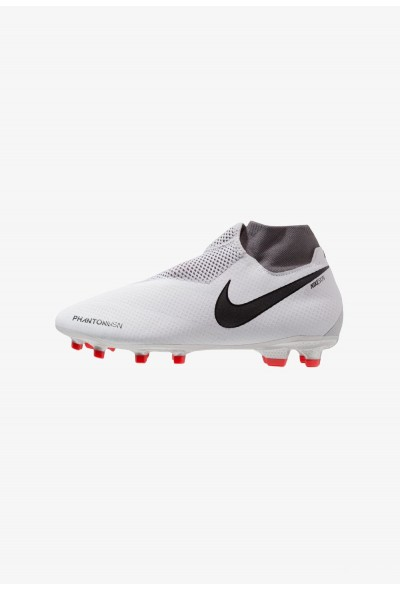 Nike PHANTOM OBRA 3 PRO DF FG - Chaussures de foot à crampons pure platinum/metallic dark grey/wolf grey/light crimson/cool grey/metallic silver