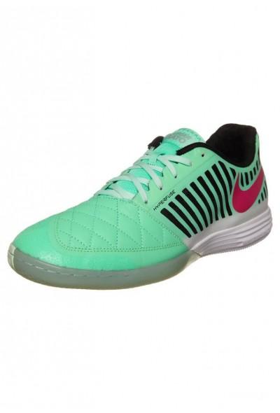 Nike LUNARGATO II - Chaussures de foot en salle green glow/pink foil/black