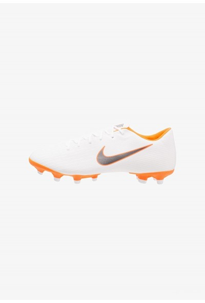 Nike MERCURIAL VAPOR 12 ACADEMY MG - Chaussures de foot à crampons white/chrome/total orange