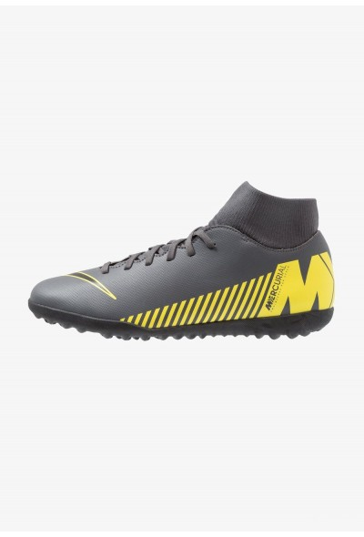 Nike SUPERFLYX 6 CLUB TF - Chaussures de foot multicrampons dark grey/black/opti yellow