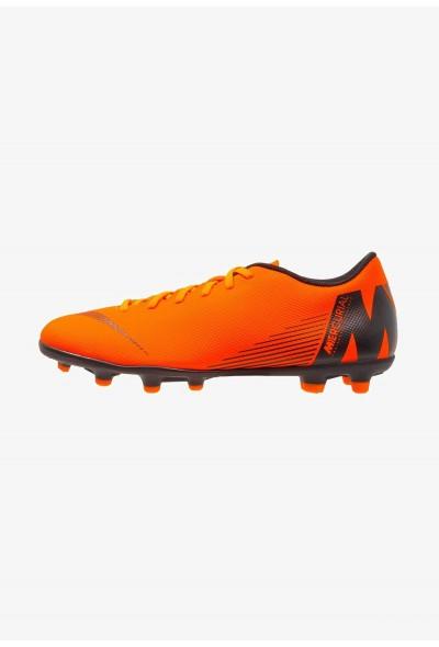 Nike MERCURIAL VAPOR 12 CLUB MG - Chaussures de foot à crampons total orange/white/volt/black