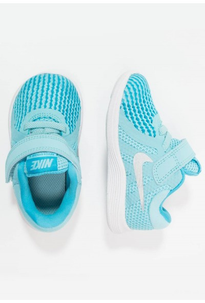 Black Friday 2019 - Nike REVOLUTION 4 - Chaussures de running neutres bleached aqua/metallic silver/light blue fury/white