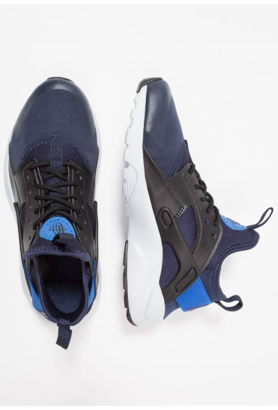Nike AIR HUARACHE RUN ULTRA - Baskets basses obsidian/signal blue/black