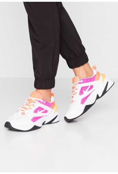 Black Friday 2019 - Nike M2K TEKNO - Baskets basses white/laser fuchsia/hyper crimson/laser orange/oil grey