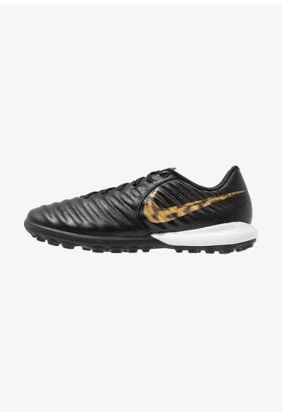 Nike TIEMPO LUNAR LEGENDX 7 PRO TF - Chaussures de foot multicrampons black/metallic vivid gold