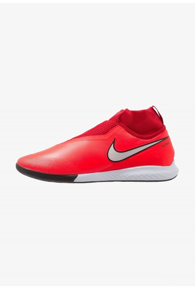 Nike PHANTOM REACT OBRA PRO IC - Chaussures de foot en salle bright crimson/metallic silver/university red/black
