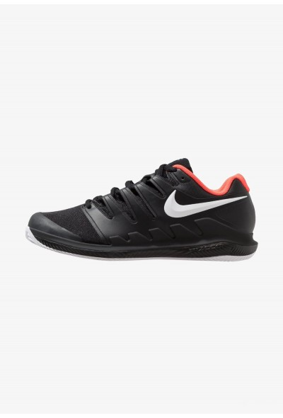 Nike AIR ZOOM VAPOR X CLAY - Chaussures de tennis sur terre battue black/white/bright crimson