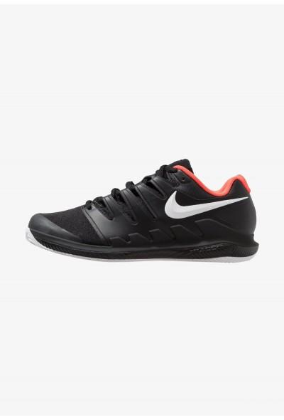 Nike AIR ZOOM VAPOR X CLAY - Chaussures de tennis sur terre battue black/white/bright crimson