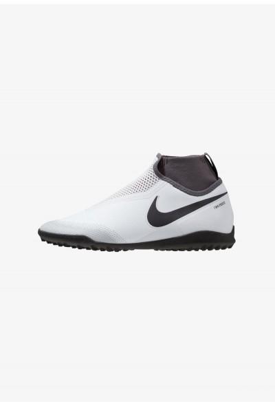 Nike PHANTOM REACT OBRA PRO TF - Chaussures de foot multicrampons pure platinum/black/light crimson/dark grey
