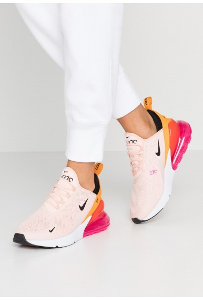 Black Friday 2019 - Nike AIR MAX 270 - Baskets basses washed coral/black/laser fuchsia/orange peel