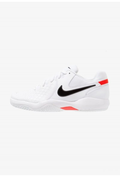 Black Friday 2019 - Nike AIR ZOOM RESISTANCE - Chaussures de tennis sur terre battue white/black/bright crimson