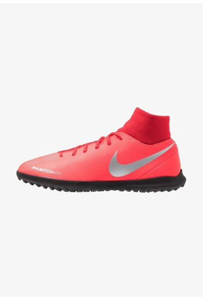 Nike PHANTOM OBRAX 3 CLUB DF TF - Chaussures de foot multicrampons bright crimson/metallic silver/university red/black