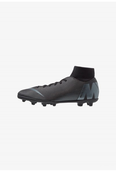 Black Friday 2019 - Nike MERCURIAL 6 CLUB MG - Chaussures de foot à crampons black/anthracite/light crimson