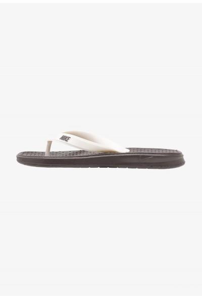 Nike SOLAY THONG - Tongs thunder grey/pale ivory