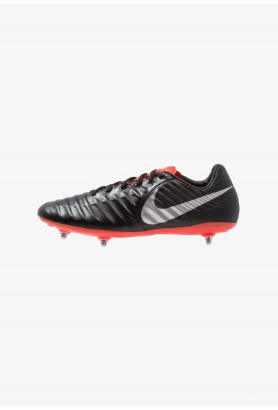 Nike TIEMPO LEGEND 7 PRO SG - Chaussures de foot à lamelles black/metallic silver/light crimson