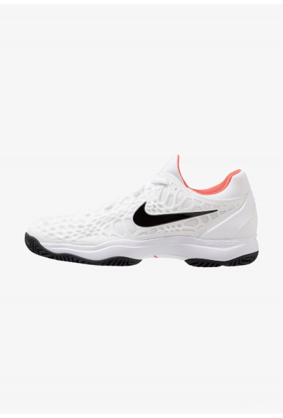 Nike AIR ZOOM CAGE 3 HC - Chaussures de tennis sur terre battue white/black/bright crimson