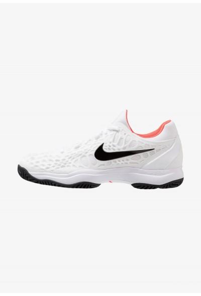 Nike AIR ZOOM CAGE 3 HC - Chaussures de tennis sur terre battue white/black/bright crimson