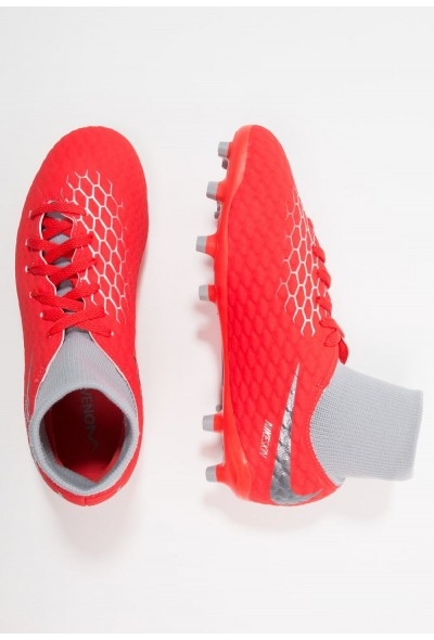 Nike PHANTOM 3 ACADEMY DF FG - Chaussures de foot à crampons light crimson/metallic dark grey/wolf grey/metallic silver