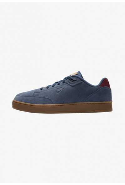 Nike GRANDSTAND II - Baskets basses navy/gum medium brown/vachetta tan/team red