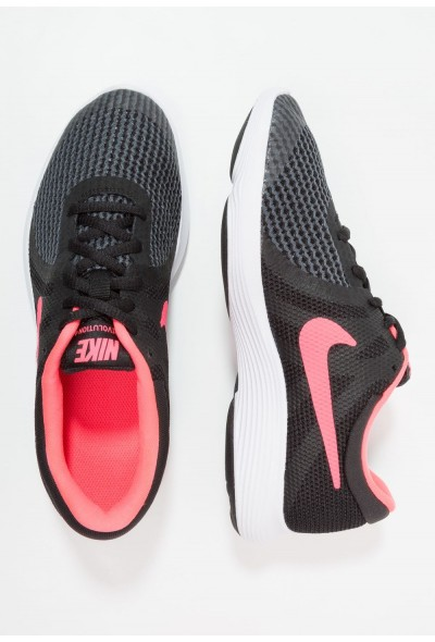 Nike REVOLUTION 4 - Chaussures de running neutres black/white/racer pink