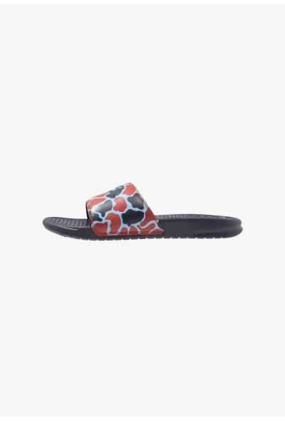 Nike BENASSI JDI PRINT - Mules obsidian