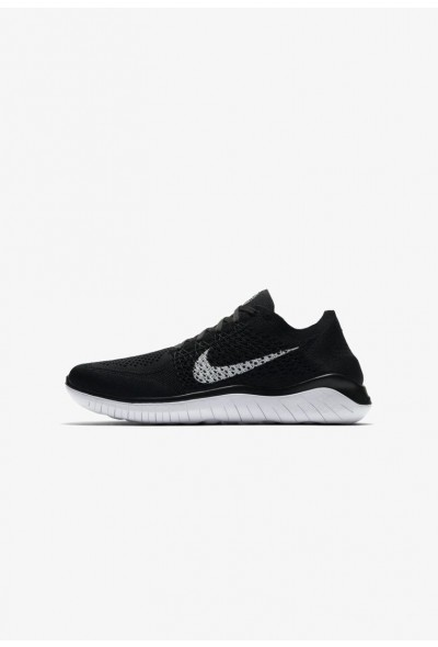 Nike FREE RUN FLYKNIT 2018 - Chaussures de course neutres black / white