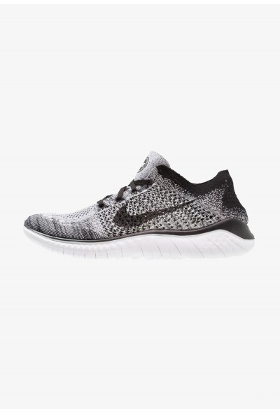 Nike FREE RUN FLYKNIT 2018 - Chaussures de course neutres white/black