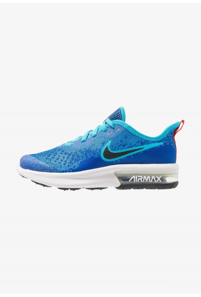 Nike AIR MAX SEQUENT 4 - Chaussures de running neutres indigo force/black/light blue fury/habanero red