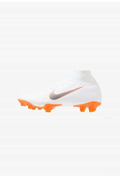 Nike MERCURIAL 6 PRO FG - Chaussures de foot à crampons white/metallic cool grey/total orange