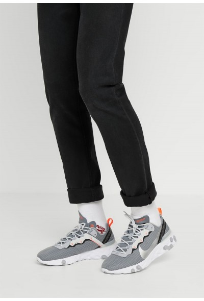 Nike REACT ELEMENT 55 WE - Baskets basses cool grey/metallic silver/hyper crimson