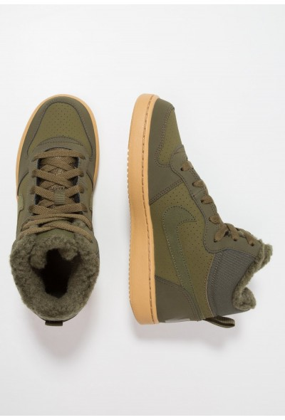 Nike COURT BOROUGH MID - Baskets montantes olive/light brown
