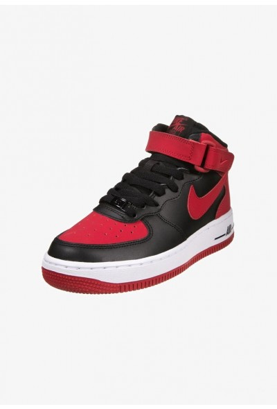 Nike AIR FORCE 1 - Baskets montantes black/gym red/white