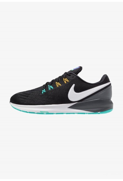 Nike AIR ZOOM STRUCTURE  - Chaussures de running stables black/white/dark grey/hyper jade