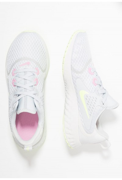 Nike LEGEND REACT - Chaussures de running neutres pure platinum/barely volt/platinum tint/pink rise