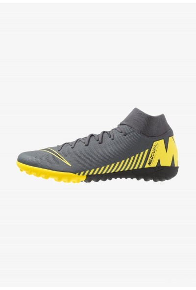 Nike MERCURIAL SUPERFLYX 6 ACADEMY TF - Chaussures de foot multicrampons dark grey/black/opti yellow