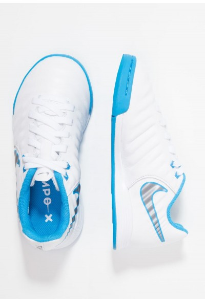 Nike TIEMPO LEGENDX 7 ACADEMY IC - Chaussures de foot en salle white/chrome/blue hero