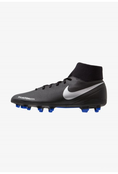 Nike PHANTOM OBRA 3 CLUB DF MG - Chaussures de foot à crampons black/metallic silver/racer blue