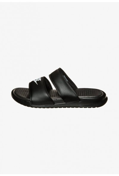 Nike BENASSI DUO ULTRA SLIDE - Mules black/white