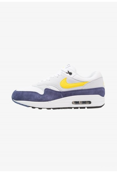 Nike AIR MAX 1 - Baskets basses white/tour yellow/blue recall