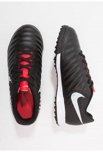Nike TIEMPO LEGENDX 7 ACADEMY TF - Chaussures de foot multicrampons black/pure platinum/light crimson