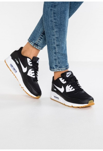 Nike AIR MAX - Baskets basses black/white/light brown