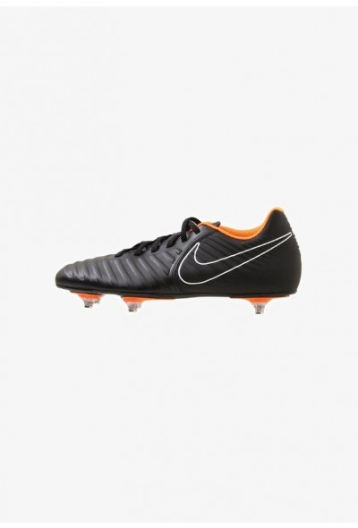 Nike TIEMPO LEGEND 7 CLUB SG - Chaussures de foot à lamelles black/total orange/black/white