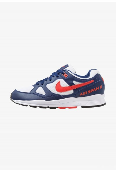 Nike AIR SPAN II - Baskets basses blue void/habanero red/white/black