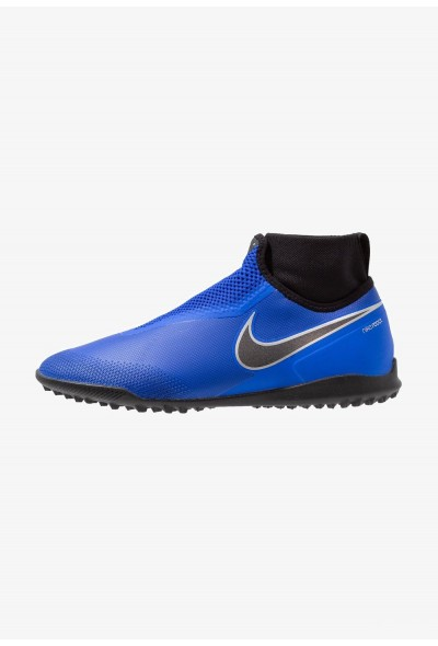 Nike PHANTOM REACT OBRA PRO TF - Chaussures de foot multicrampons racer blue/black/metallic silver/volt/white