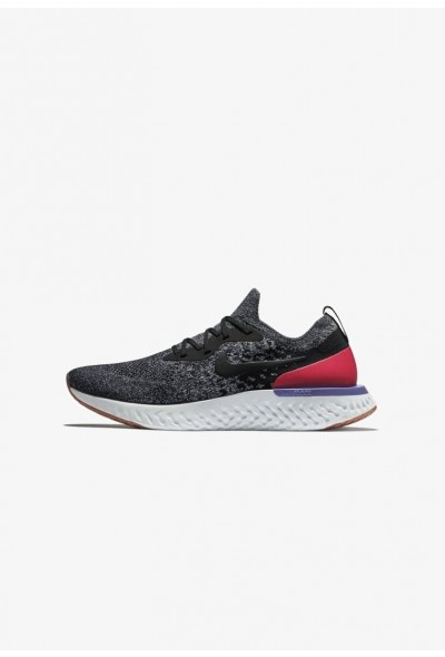 Nike EPIC REACT FLYKNIT - Chaussures de running neutres black/dark grey/pure platinum