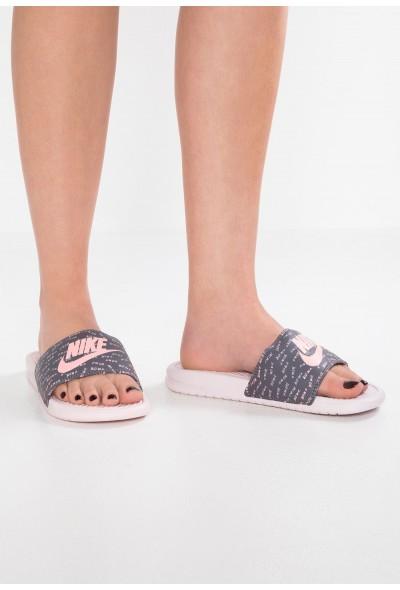 Nike NIKE BENASSI JDI PRINT - Mules barely rose/bleached coral/gunsmoke
