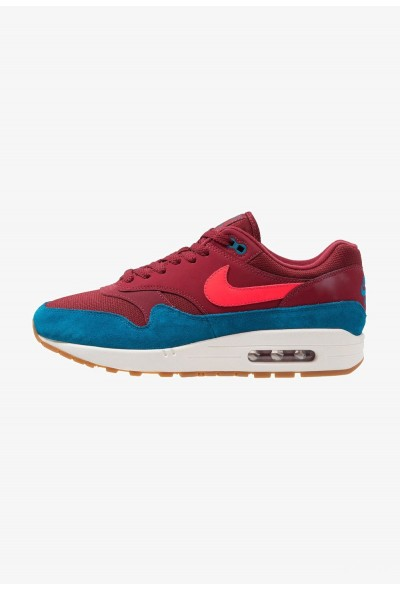 Nike AIR MAX 1 PREMIUM HERRENSCHUH - Baskets basses team red/red orbit/green abyss/white/medium brown