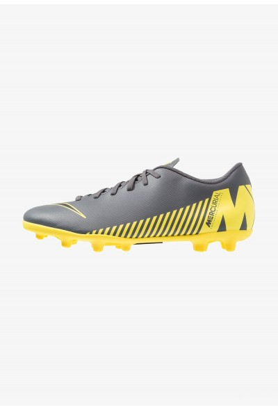 Nike MERCURIAL VAPOR 12 CLUB MG - Chaussures de foot à crampons dark grey/black/opti yellow