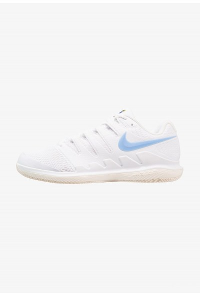 Nike AIR ZOOM VAPOR X HC - Baskets tout terrain white/university blue/light cream/metallic gold