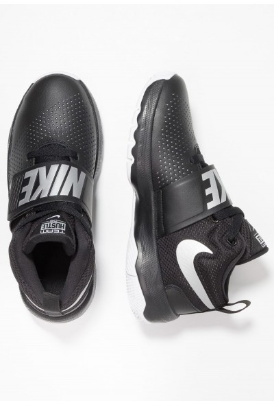 Black Friday 2019 - Nike TEAM HUSTLE D 8 - Chaussures de basket black/metallic silver/white